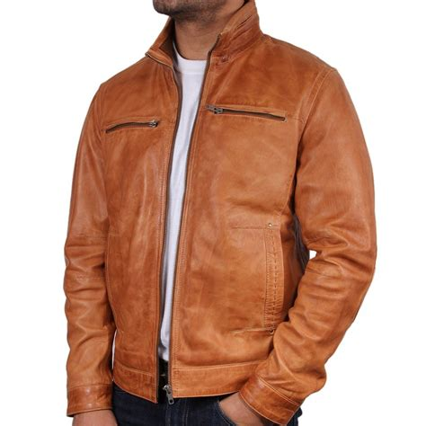 men s men s tan leather jacket chicago