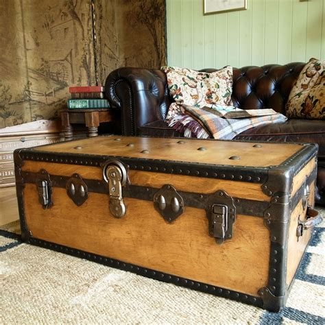 shabby chic trunk coffee table furniture chest coffee table for inspiring antique living