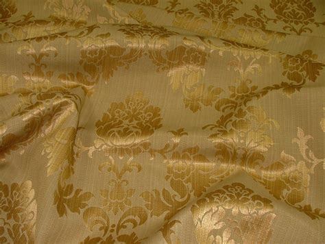 designer upholstery antique gold madagascar designer curtain brocade damask