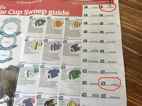 Melbourne Sweepstake - melbourne cup sweeps mayhem as the newspapers get it wrong the roar