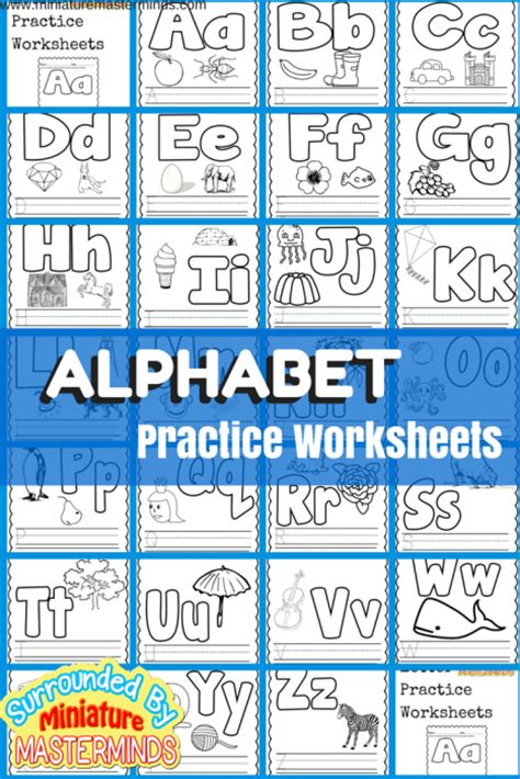 letters and lessons for the books basic concept alphabet practice worksheets free printables