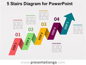powerpoint diagram templates 5 staged arrow stair powerpoint diagram presentationgo