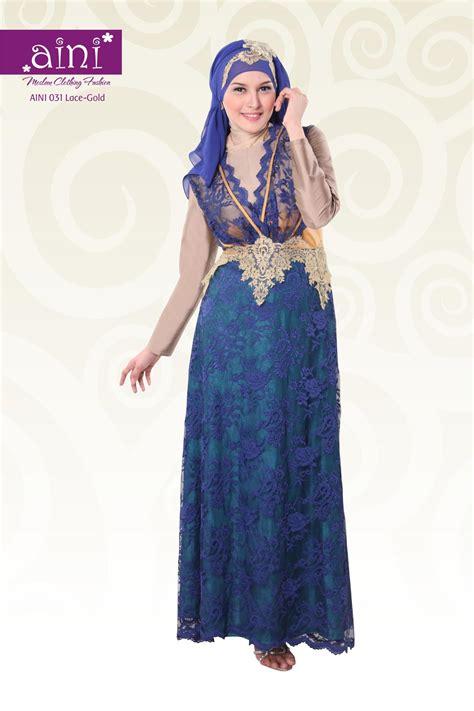 Gaun Mareeam Gamis Pesta Jaguard S M L Syar I aini 031 baju muslim gamis modern