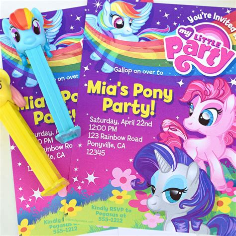 horse birthday party printable templates pony party theme planning invitations my little pony invitation my little