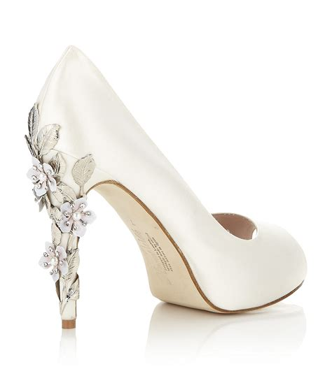 bridal shoes for harriet wilde satin peep toe bridal shoes eawedding