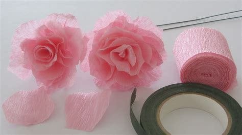 Crepe Paper Roses - how to make a crepe paper craft tutorial