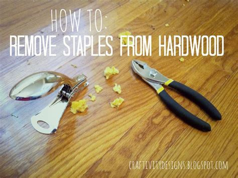 How To Remove Upholstery Staples by How To Remove Carpet Staples From Wood Floors The Easy