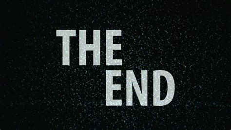 Or Ending The End Title On Tv Noise Background Ending Sequence 1920x1080 1080p Hd Footage Stock