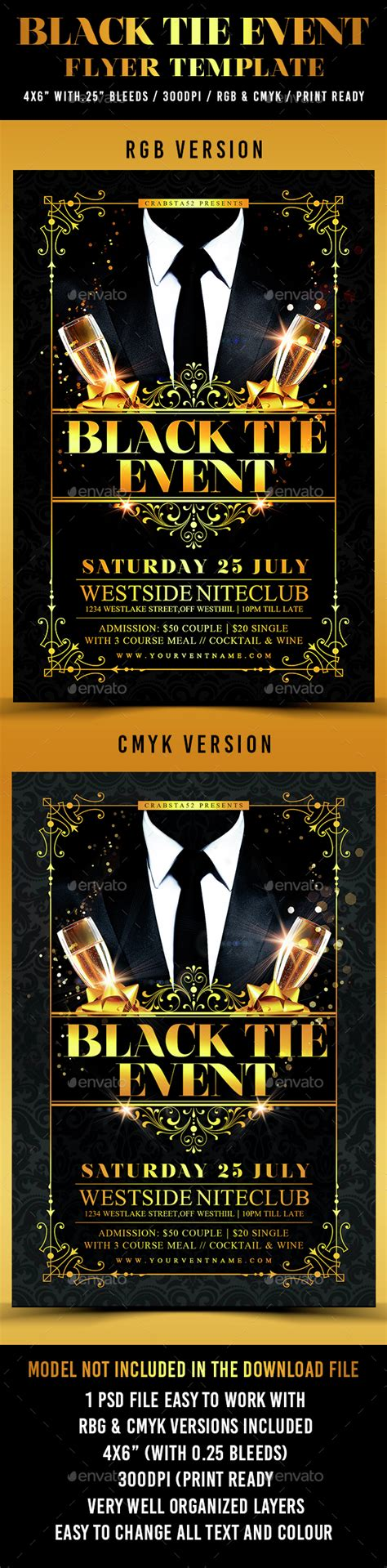 best flyer design graphicriver black tie event flyer template by crabsta52 graphicriver