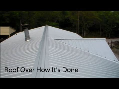 sheet metal single wide remodel roof over how i did it youtube