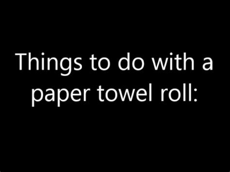 Things To Make Out Of Paper Towel Rolls - things to do with a paper towel roll