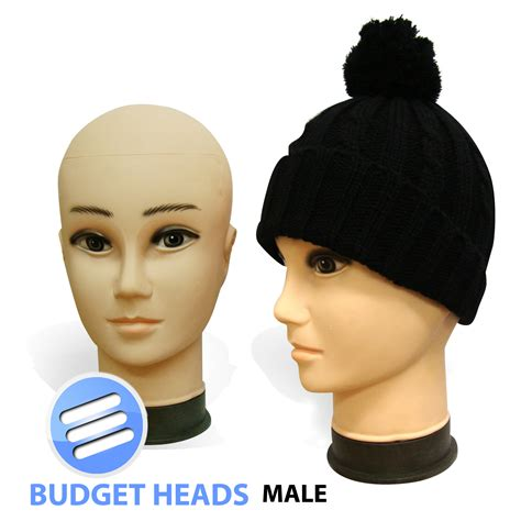 budget plastic male female display head heads mannequin budget plastic male female display head heads mannequin