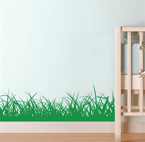 Cheap Wall Stickers For Bedrooms bedroom wall decals cheap stickers grass border sticker kids nursery