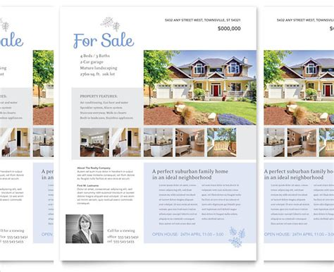 home sale flyer template 20 free download real estate