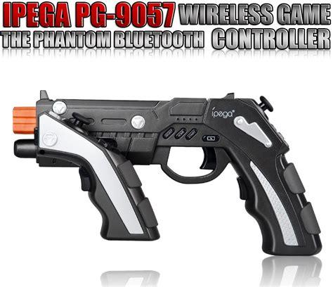 Ipega Phantom Shox Pistol Gun Gamepad Smartphone Android Iphone Fps ipega the of phantom shox blaster bluetooth gun gamepad for smartphone pg 9057 black