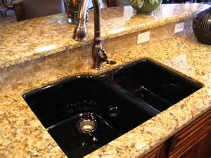Black Granite Kitchen Sinks Black Kitchen Sink An Irresistible Elegance