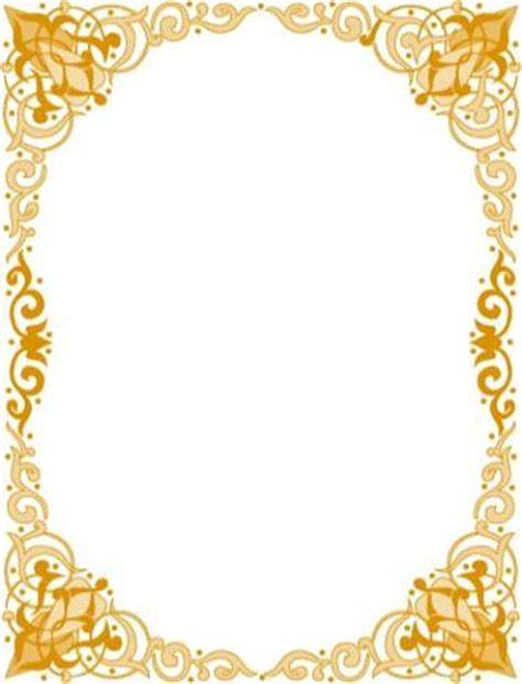 islamic pattern page border islamic border design images and frames to download free