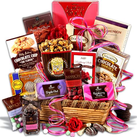 valentines day gift chocolate dreams s day gift basket by gourmetgiftbaskets