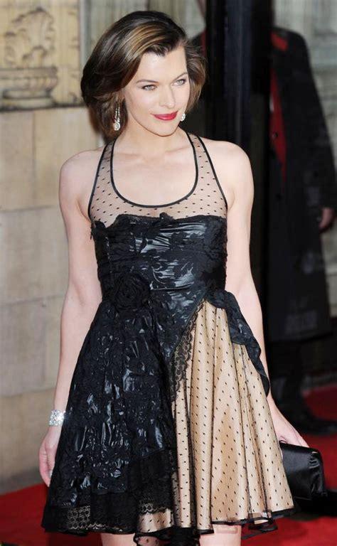 Milla Jovovich Wardrobe pics milla jovovich suffers nip slip at gorby 80 gala