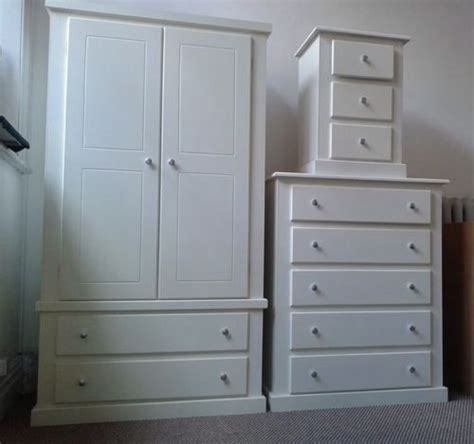 ready built bedroom furniture hand made berkeley white 3 piece bedroom set no flatpacks