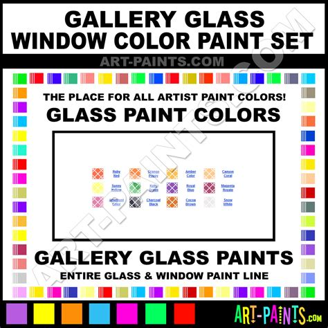 gallery glass window color paint set glass and window paint colors stains inks stained glass