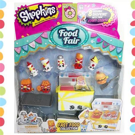 Shopkins Food Fair Fast Food Collection 1 meet season 3 food fair fast food 6 different ones