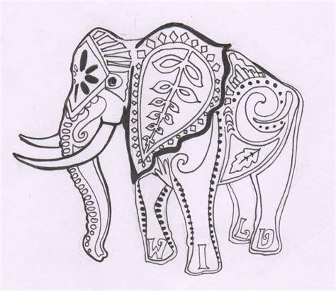 elephant design coloring page amykatewolfe november 2010