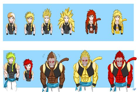 all ve as forms and transformations imagenes de vegeta frozen dbz elsanna all ssj forms oozaru form by