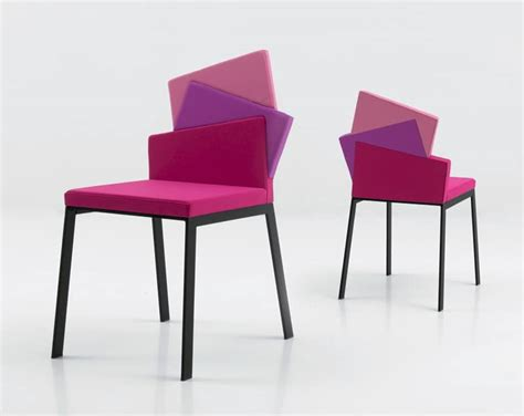 Colorful Armchair Metal Chair Covered In Fabric With 3 Settings Idfdesign