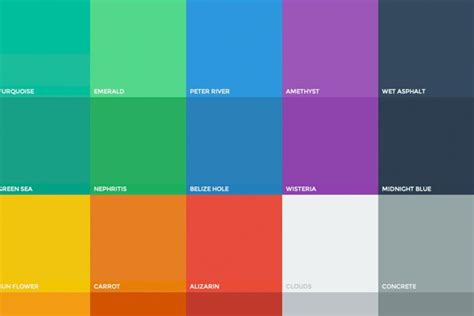 designer color palettes basic principles of flat design and resources to get you