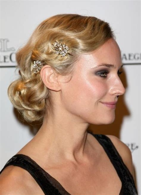 updos for medium length hair from the 1950 s side view of vintage wavy hairstyle for medium length hair
