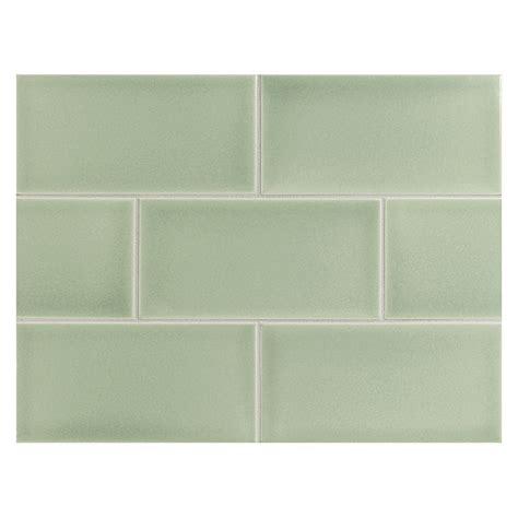 Stone Kitchen Backsplash vermeere ceramic tile pine mist gloss 3 quot x 6 quot subway tile
