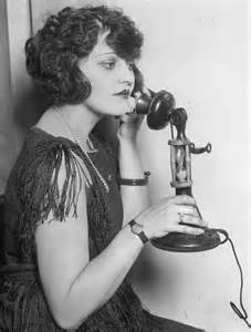 Of The 1920s Telephone Call On Vintage Telephone Antique