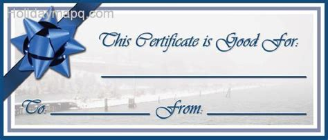 vacation gift card template gift certificate template holidaymapq