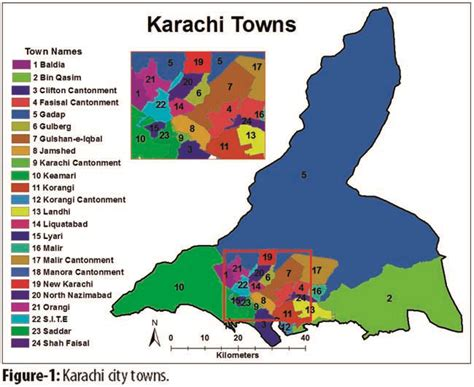 mideast hospital karachi map spatial distribution and accessibility to sector
