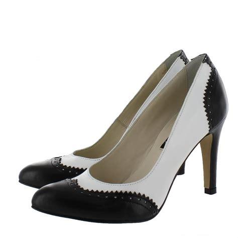 marta jonsson womens brogue style court shoes 1517l
