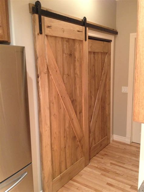 His Her Custom Pantry Sliding Barn Door Awesome Bifold Barn Doors