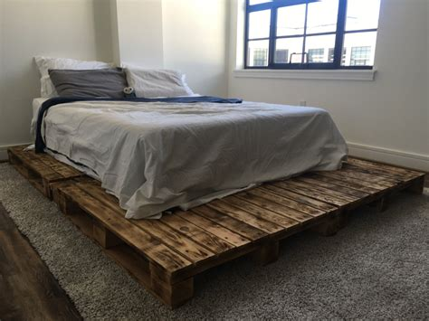 pallet twin bed pallet platform bed available in queen king full twin size