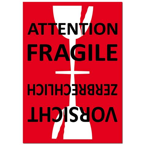 Fragile Aufkleber Kaufen by Aufkleber Sticker Etikett Label Attention Fragile Glass