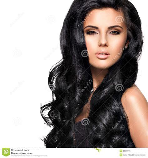 imagenes en cabello negro mujer morena hermosa con el pelo negro largo foto de