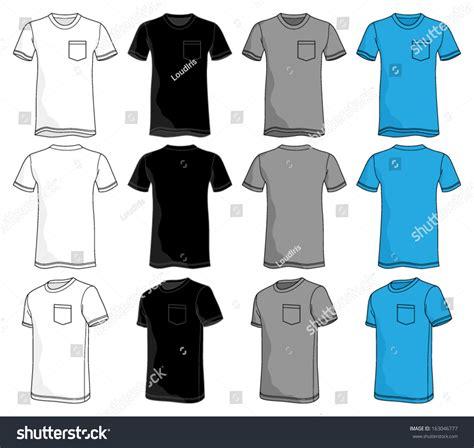 pocket t shirt template pocket tshirt template stock vector 163046777
