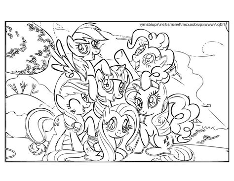 My Little Pony Friendship Is Magic Coloring Pages Pdf My Pony Friendship Is Magic Coloring Pages To Print