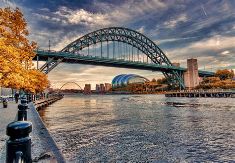 River Home Decor autumn on the river tyne photograph by trevor kersley