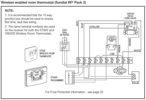 honeywell wiring diagram y plan honeywell v8043e wiring