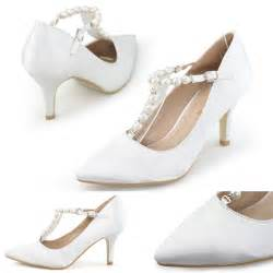 Wedding Shoes Brands Brand Women White Pearl Pumps Wedding Shoes Woman Closed Pointed Toe High Heels Satin Silk