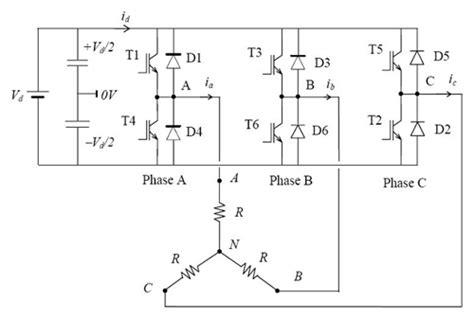 3 phase inverter diagram 3 phase inverter circuit using