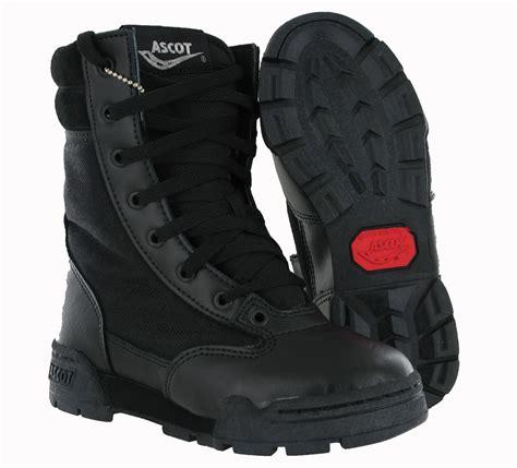 boots boys new boys ascot black leather combat cadet army