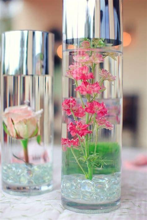 diy project submerged underwater flower centerpieces