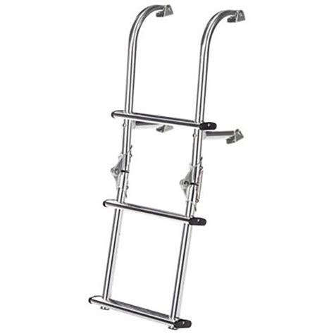 universal boat ladder dotline 3 step universal mount folding boat ladder by