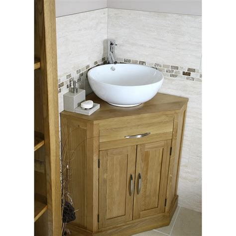 solid oak vanity units for bathrooms cube solid oak corner bathroom vanity unit click oak